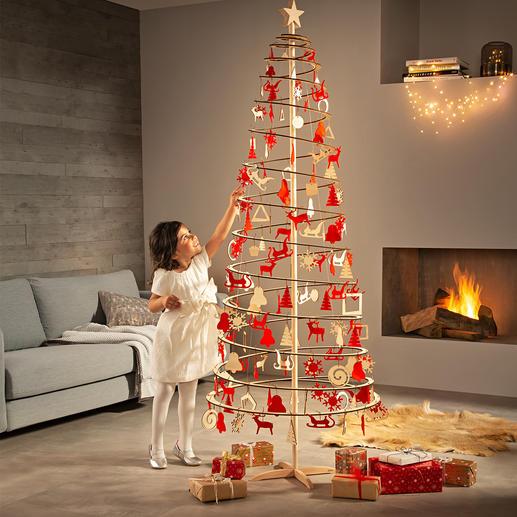 Spiralbaum Drei Handgriffe, eine Minute, null Montage – schon ist Ihr Christbaum aufgestellt.
