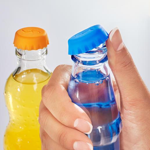 Silikon-Kronkorken, 12er-Set - Praktisch, hygienisch, sicher: der Silikon-Kronkorken für Ihre Getränkeflaschen.