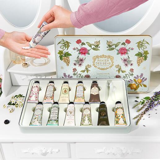 Panier des sens Handcreme, 12er-Set (12 x 30 ml) Zwölf Handcremes – mit kostbarsten Essenzen der Provence, in der Parfümhauptstadt Grasse komponiert.