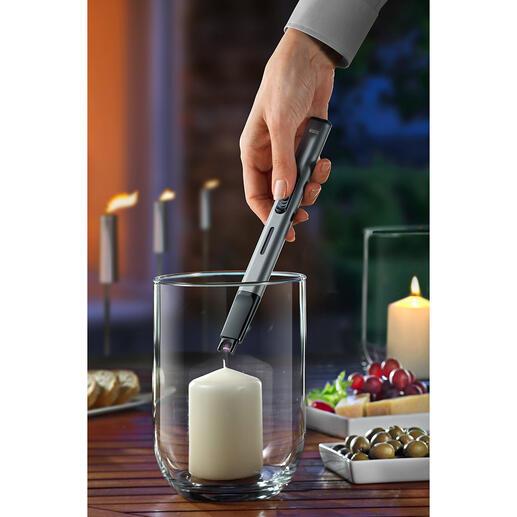 Stab-Anzünder Kein Feuerzeuggas oder -benzin. Keine Hitze in der Nähe Ihrer Hand. Kein gefährliches Aufflammen.