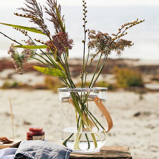 3-in-1 Windlicht - Edles Glasdesign – drei Funktionen: Windlicht, Vase und Weinkühler.
