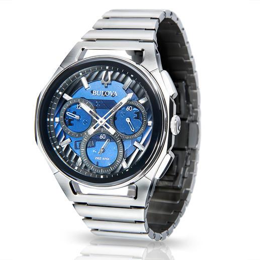 Bulova Curv Uhr Der weltweit erste Chronograph mit gewölbtem Uhrwerk.