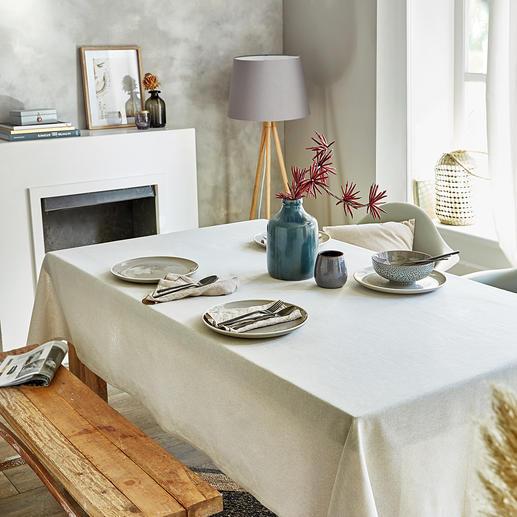 Tischwäsche Leinen-Look Selten: edle Leinenoptik – aber völlig pflegeleicht. Und erfreulich preiswert. Mit schützender Teflon™-Beschichtung.