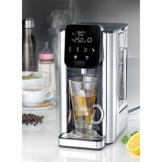Caso Heißwasserspender HW 660 In 5 (!) Sekunden bereit: für 1 Tasse oder bis zu 2,7 Liter heißes Wasser. Jetzt noch besser: mit abnehmbarem Tank. Spart Energie, Aufwand und Zeit.