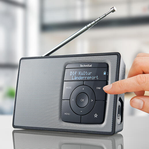 TechniSat DIGITRADIO 2 - Mit Akku (statt Batterien) und Bluetooth-Streaming. Qualität made in Germany.