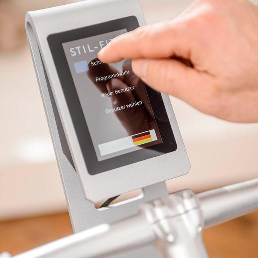 Die Touchscreen-Konsole ist leicht und intuitiv zu bedienen.
