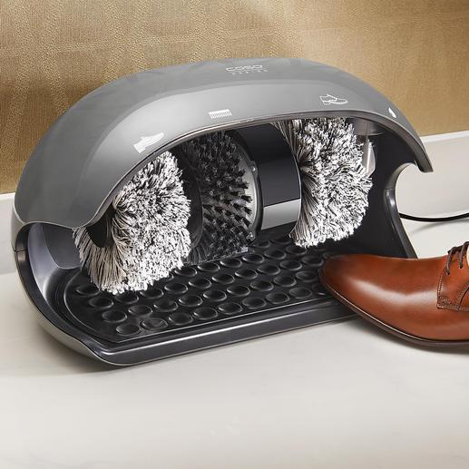 Caso Schuhputzmaschine Jeden Tag: saubere Schuhe wie von Hand gepflegt. In Sekunden.