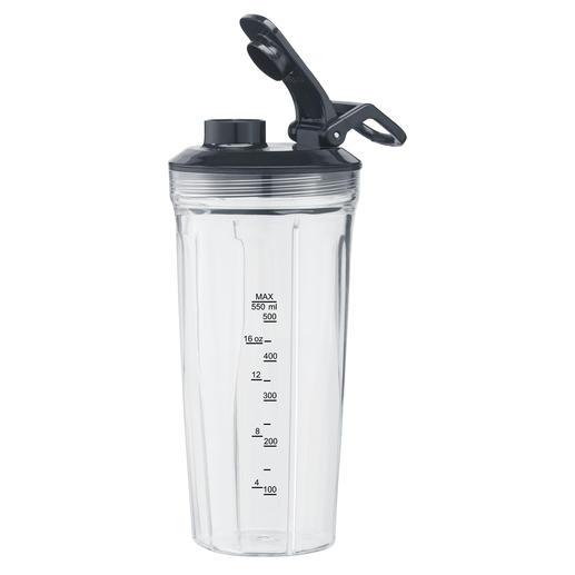550-ml-Mixeraufsatz (16.000U/min) aus Tritan mit passendem Trinkdeckel für Smoothies, Suppen, Shakes, Mahlen von Nüssen oder Backzutaten...