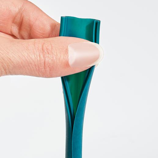 Mit einem Handgriff der Länge nach geöffnet – perfekt für die hygienische Reinigung.