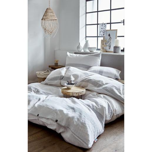 Flanellbettwäsche aus Recyclingbaumwolle Höchster Schlafgenuss: Die kuschelig weiche Flanellbettwäsche aus recycelter Baumwolle.