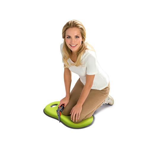 Knie- und Sitzkissen - Ideal beim Gärtnern, Renovieren, Putzen. Aber auch für kalte Stadion-Sitze und Parkbänke.