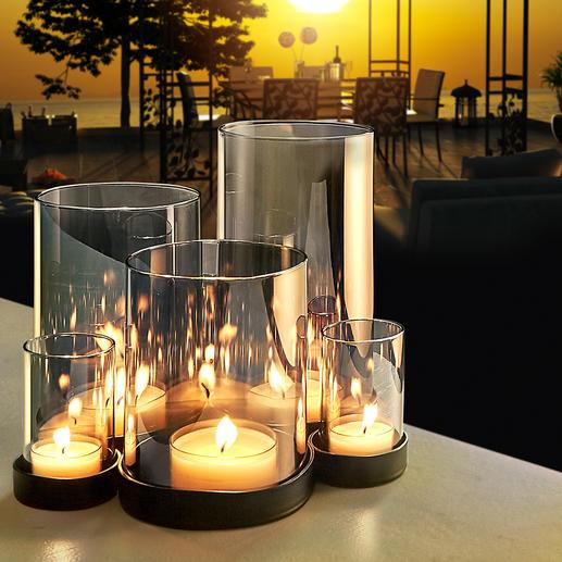 Windlicht Lichtermeer Geheimnisvoll verspiegeltes Glas entfacht ein wahres Lichtermeer.