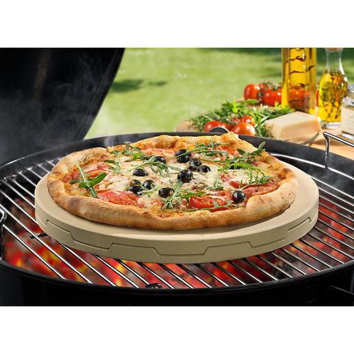 Doppelter Pizzastein Backt Steinofen-Pizza unübertroffen gleichmäßig und zart knusprig.