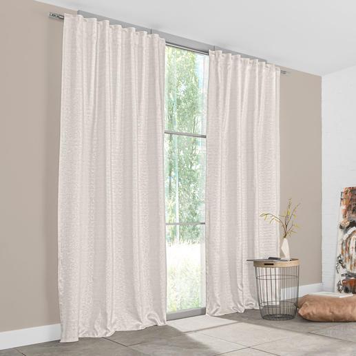 Vorhang Soho - 1 Stück Angesagte Metallic-Optik – aber außergewöhnlich weich und wohnlich.
