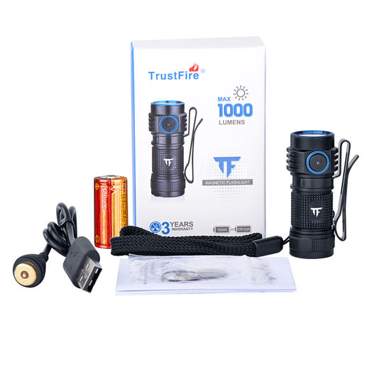 1.000 Lumen Mini-Taschenlampe