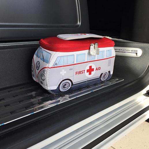 VW-Erste Hilfe Set - Früher Kult-Bus. Heute Erste-Hilfe-Box im trendigen VW-Design. Ausgestattet nach DIN-Norm.