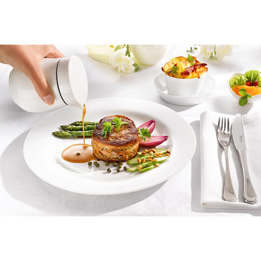 Thermo-Sauciere Doppelwandiges Fine Bone China hält Ihre Saucen länger heiß. Elegante Thermo-Sauciere von ASA Selection.