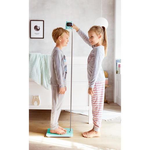Waage mit Maßband Die neue Generation Personenwaage: Wiegt und misst sogar die Körpergröße.
