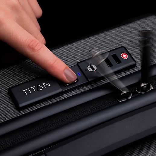 Diese Premium-Trolleys öffnen Sie allein mit Ihrem Fingerabdruck – kein Unbefugter kann Ihr Reisegepäck öffnen.