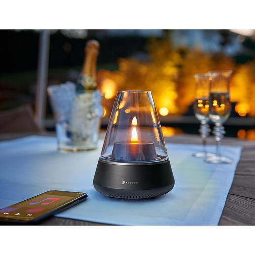 Soundlight Nordic Pro Warmer Flammenschein – von Lieblingsmusik untermalt. Aus einem coolen Design-Objekt.