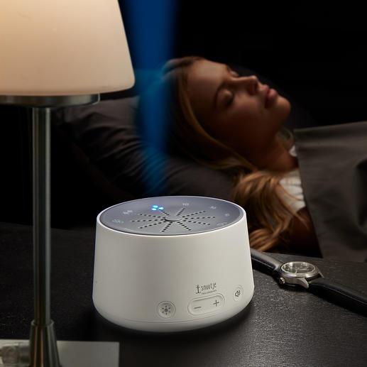 Einschlafhilfe Besser einschlafen. Auf natürliche Weise – mit beruhigenden Licht-Klang-Kompositionen.