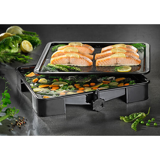 Ideal auch zum schonenden Dampfgaren im Ofen.