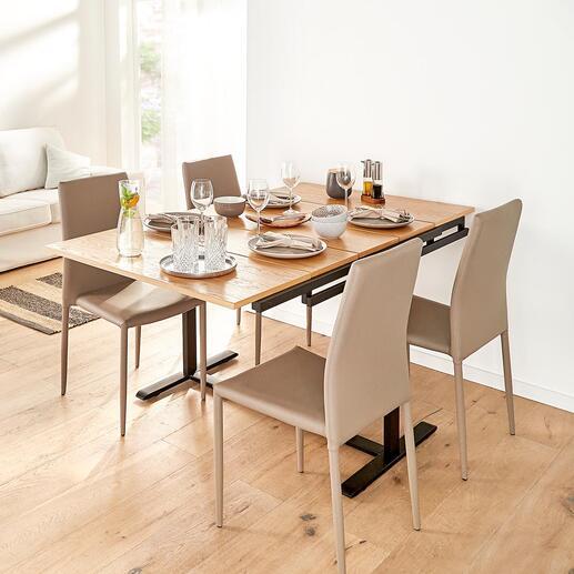 Ein Handgriff genügt – und Ihre schön gedeckte Dinnertafel steht zum Platznehmen parat.