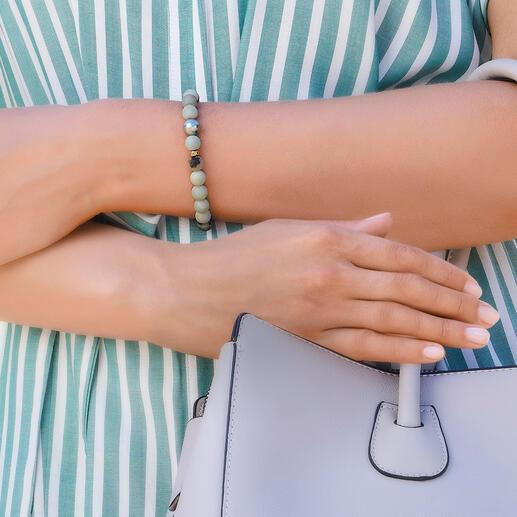Amazonit-Armband mit Tahiti-Perle