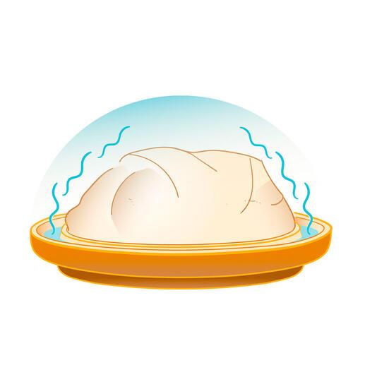 Durch gezielte Verdunstung bildet sich ein Feuchtigkeitsschirm direkt um das Backgut – für köstliche Kruste wie in einem Holzbackofen.