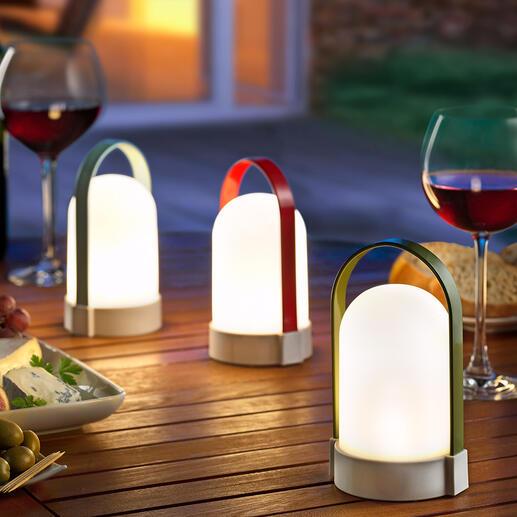 AkkuleuchtePiccolos, 3er-Set Schönstes, blendfreies LED-Licht für drinnen, draußen und unterwegs – ohne Stromanschluss. Tragbar, dimmbar und vielseitig nutzbar.