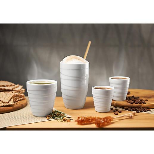 Porzellan-Thermobecher Doppelwandiges Porzellan: Die Thermobecher für mehr Trinkgenuss. Prämiertes Design vom deutschen Keramikunternehmen ASA Selection.