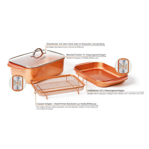 Copperline WonderCooker, 4-teilig