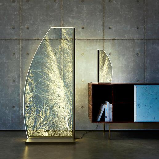 LeuchteIllusion Lichtdesign in vollendeter Schönheit: Die Leuchte aus kostbarem Kristallglas mit raffinierter Innengravur. Jede Leuchte ein handgefertigtes Unikat. Von Luverre/Germany.