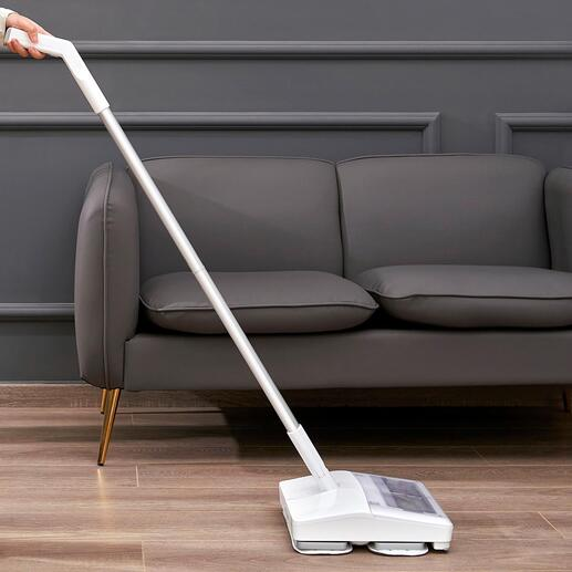 Vibrations-Akku-Saugwischer Genial: saugen und wischen in einem Arbeitsgang – jetzt mit Vibrations-Funktion für noch gründlichere Reinigung.