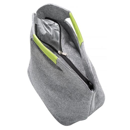 Sie öffnen die Tasche einfach per Reißverschluss und befüllen sie bequem von oben.