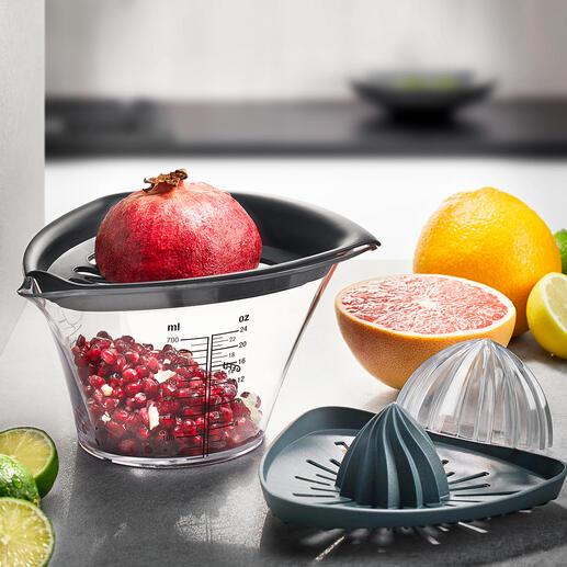 Gefu® Granatapfelentkerner und Zitruspresse Die saubere Art, Granatäpfel zu entkernen. Einfach Klopfen statt mühsam pulen.