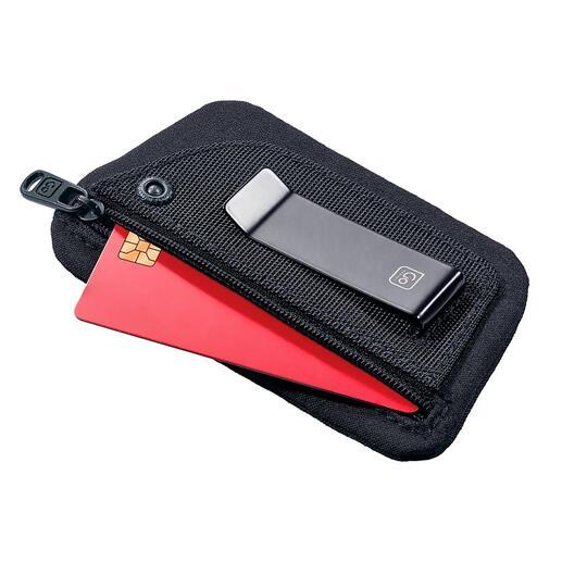 MinibörseClippouch Geld, Kreditkarte, Personalausweis, … auch in leichter Sommerkleidung alles dabei.