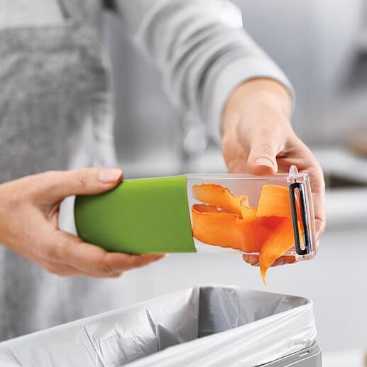Zum Ausleeren können Sie den Behälter einfach wie eine Schublade ausziehen.