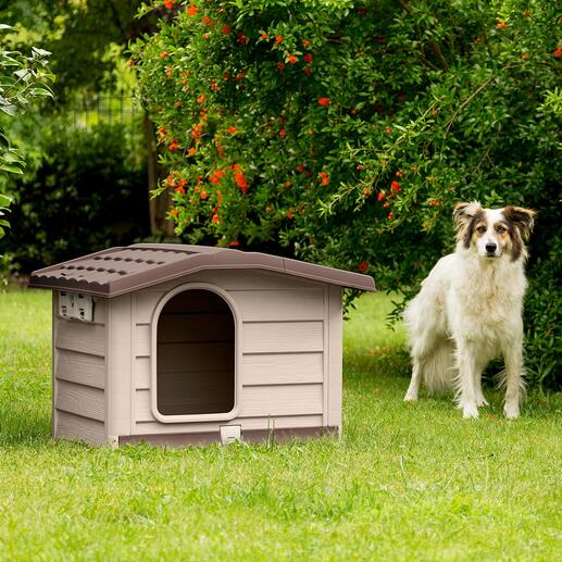 Haustierhütte mit aufstellbarem Dach Verhindert Hitzestau und unangenehme Gerüche. Mit pflegeleichter Bodenlade. In nur 3 Minuten ohne Werkzeug aufgebaut.