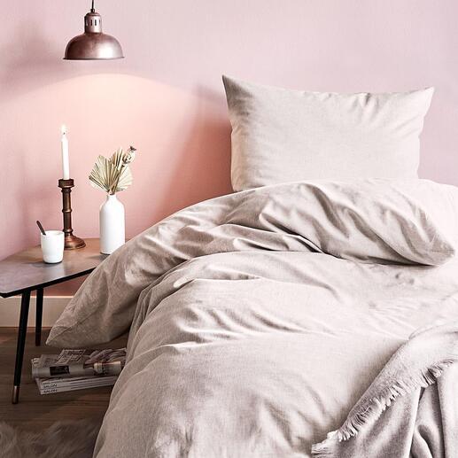 Baumwoll-Hanf-Bettwäsche Seidenweich, temperaturausgleichend und robust: Ganzjahres-Bettwäsche mit der Traumfaser Hanf.