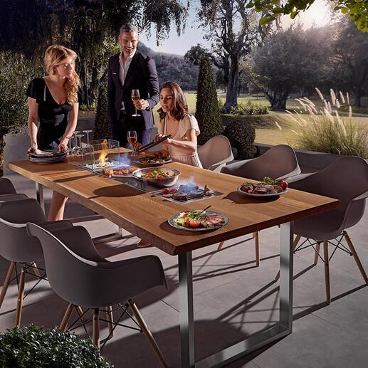 Design-Grilltisch mit 4Einsätzen
