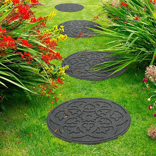 Die Platten sind beidseitig nutzbar – mit Muster oder glatter Rückseite.