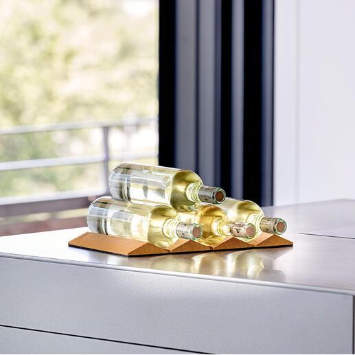 Design-Flaschenhalter Platzsparend faltbar. Produkt- und Designqualität made in Germany.