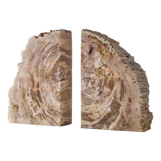 Buchstützen-Set aus fossilem Holz