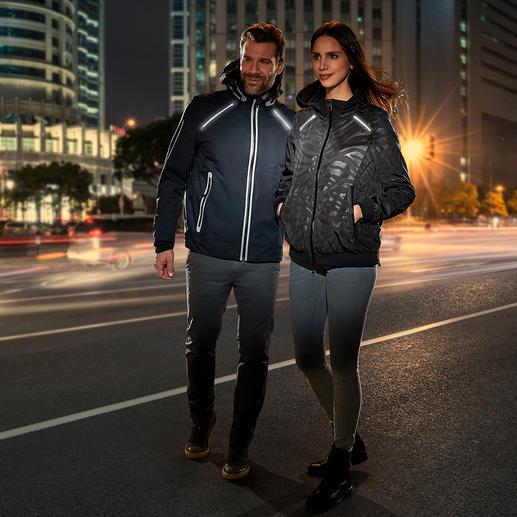 Geox Damen-XLED-Jacke - Besser sichtbar für mehr Sicherheit: das Geox Lighting-Jacket mit LED-Lichtsträngen.