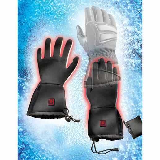 Beheizte Innen-Handschuhe, Paar Das geniale Rezept gegen kalte Finger beim Skifahren, Wandern, Arbeiten, ...
