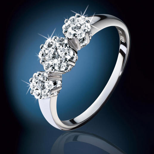 Diamantring Invisible Setting - Echte Diamanten: prachtvoll wie Halb- und Viertel-Karäter – aber zum Bruchteil des Preises.