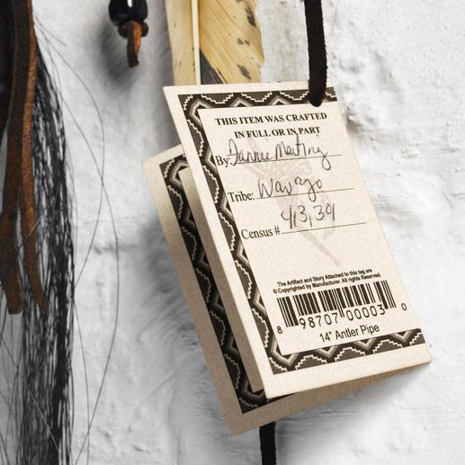 Das Zertifikat mit Name und Ident-Nr. des Navajo-Künstlers verbrieft die authentische Abstammung.