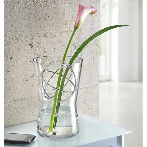 Glasvase mit Dekosphäre - Langstielige Blumenarrangements, üppige Sträuße, … – immer die perfekte Vase.