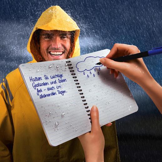 """""""Rite in the Rain""""® Wasserfestes Spiralheft, 2er-Set - Sogar im Schneesturm, bei Regenwetter, ...dieses Papier hält Ihre Notizen fest – immer. Ohne Spezialstift."""